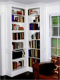 White Corner Bookcase White Corner Bookcase Up To Ceiling Useful Corner Bookcase