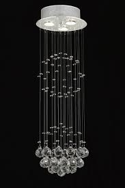 Chandelier With Crystal Balls G93 Md 9342 3 Gallery Modern Contemporary Raindrop Crystal