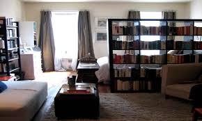room dividing bookcase bookshelf room divider studio apartment
