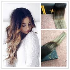 Black To Brown Ombre Hair Extensions by 7a Seamless Ombre Tape In Human Hair Extensions Balayage Soft