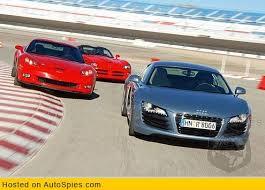 corvette vs audi r8 audi r8 comparison against corvette z06 and dodge viper srt 10
