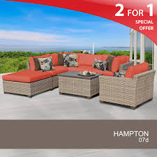 7 piece outdoor furniture set patio furniture rattan