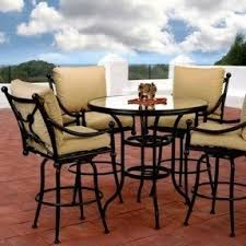 High Patio Table And Chairs Bar Height Patio Furniture Sets Foter
