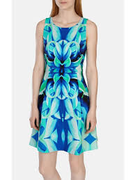 karen millen mirrored oversize floral dress in blue lyst