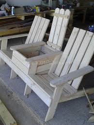 Diy Wooden Outdoor Chairs by Adirondack Jack U0026 Jill Chair From Pallets Pallet Chair Pallet