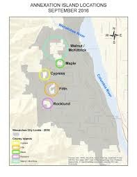 Wa Map Annexations Wenatchee Wa