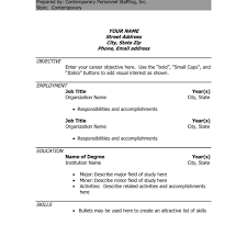 Latest Resumes Format by Cv Template Word Pdf High Student Resume Cv Format Doc
