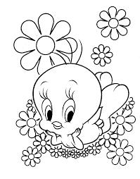 pintar en primavera tweety bird crayons
