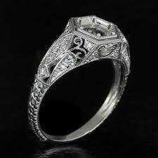 engraving engagement ring vintage g h vs1 diamond platinum engagement ring setting 6mm