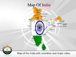 interactive map india india presentation slides editable india map