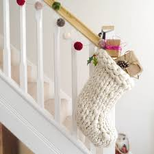 chunky hand knitted christmas stocking stockings knitted