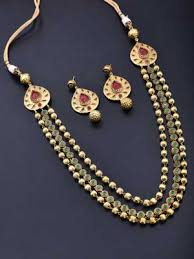 bridal sets for rent rent buy choker necklace set with polki and multicolored stones