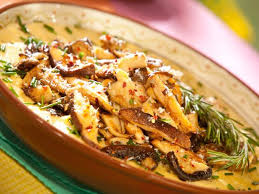 cuisine polenta sauteed mushrooms cheesy polenta recipe food