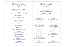 folded wedding program landscape script folded wedding program gilm press