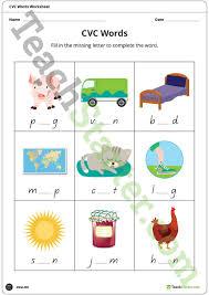 cvc worksheets teaching resource u2013 teach starter