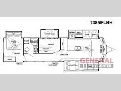 Forest River 5th Wheel Floor Plans 2 Bedroom 5th Wheel Floor Plans Campers Pinterest Rv Rv