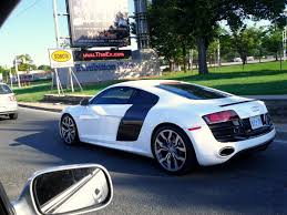 Audi R8 White - white and black audi r8 v10 1 madwhips