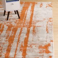 All Modern Rugs Ferrint Orange Area Rug Orange Area Rug Lights And Orange Rugs