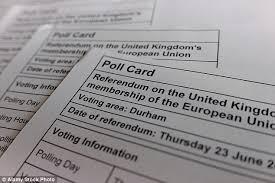 eu referendum polling cards been sent to non eligible eu