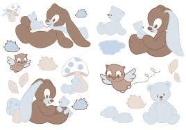 chambre lapin formidable chambre de garcon 6 ans 11 nattou stickers lapin emil