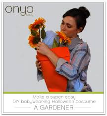 super easy diy babywearing halloween costume the gardener onya baby