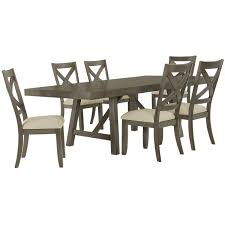 City Furniture Dining Table City Furniture Omaha Gray Rectangular Table
