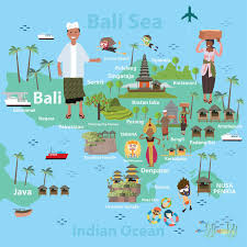 bali indonesia map bali indonesia map and travel stock vector image 70538724
