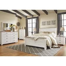willowton 4 piece queen bedroom set in whitewash nebraska