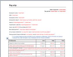 pay slip template sample format