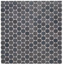 waterworks penny tile mosaic graphite matte bathroom ideas