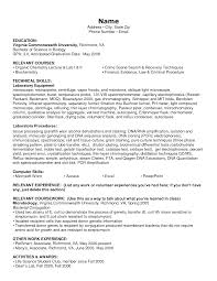 Skills Resume Format Microbiology Resume Samples Resume For Your Job Application
