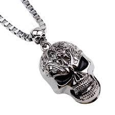 skull link necklace images Tiger totem free shipping skull necklaces pendants for men quality jpg