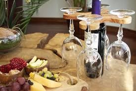 handmade olive wood wine glass holder wine bottle u0026glass rack wine ac