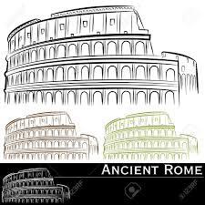 colosseum clipart cartoon pencil and in color colosseum clipart