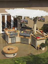 incredible outdoor kitchen designs with kitchen island and