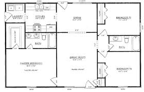 what is a split floor plan three bedroom floor plans