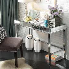 camille beveled mirrored accent 1 drawer office writing desk by