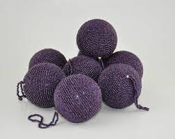 vintage ornaments purple glass etsy