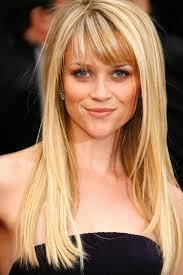 long straight hairstyle with bangs women medium haircut