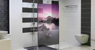 See Through Bathroom Moutain Landscape See Through Window Decals Dezign With A Z