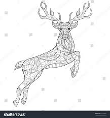 vector zen tangle christmas reindeer stock vector 527145220