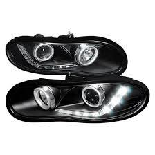 02 camaro headlights 98 02 chevrolet camaro black dual halo r8 projector led headlights