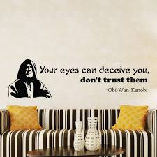 wall decals obi wan kenobi star wars quote decal your eyes details wall decals