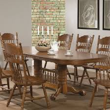 Traditional Dining Room Set by Country Style 9 Pc Oak Wood Traditional Dining Table U0026 Chairs