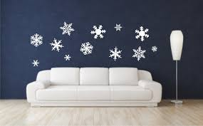 snowflake vinyl wall decals christmas wall decals merry zoom