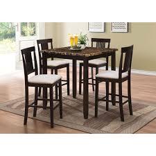 Counter Height Bar Table Nicole Transitional 5 Piece Pub Table U0026 Counter Height Bar Stool