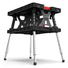 Keter Clamps Keter Adjustable Folding Work Table Walmart Com