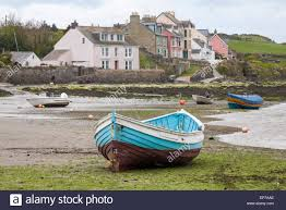 boat beach and houses at the parrog at the southern end of