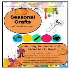 saturday crafts for kids october 2017 flagler county family fun