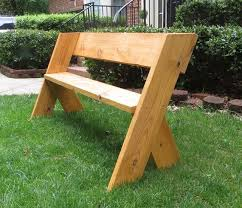Make Your Own Picnic Table Bench by Best 25 Outdoor Wood Projects Ideas On Pinterest Wood Projects